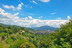 View of Bergamo, Italy Stock Photos