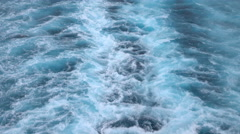 Beautiful Caribbean Ocean wake behind cruise ship 4K Stock Footage