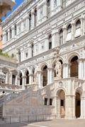 Court Of The Doges Palace in Venice. Stock Photos