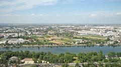 Aerial Panoramic View Of Vienna City - stock footage