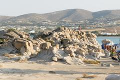 Kolymbithres beach landscape at Paros island in Greece. - stock photo