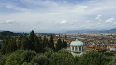 Panning view of Florence Stock Footage