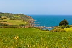 Western Brittany view - stock photo