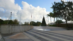 Shot of Hollywood Young Circle Park. Stock Footage