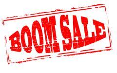 Boom sale Stock Illustration