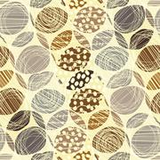 Stock Illustration of Cute pastel pattern. Seamless texture with rings. Abstract background