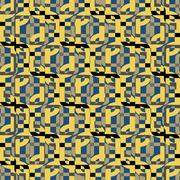 Yellow squares texture seamless pattern background - stock illustration