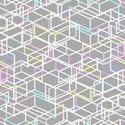 Intersected mosaic seamless pattern Stock Illustration