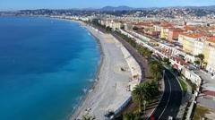 Nice - Promenade des Anglais Time Lapse - stock footage