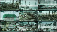 Safety cctv camera constructions sites in Hong Kong city. Stock Footage