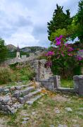 The ruins of ancient fortress in Old Bar, Montenegro Stock Photos