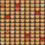 Valentine's seamless pattern with hearts Stock Illustration