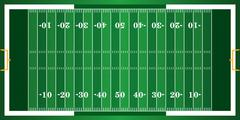 Textured Grass American Football Field - stock illustration