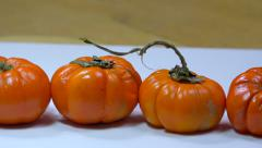 Jack be little (small pumpkin) - panoramic shot Stock Footage