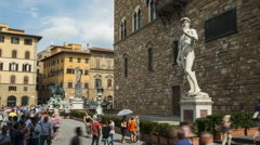 Time lapse of the Palazzo Vecchio Stock Footage