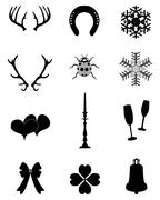 Winter icons Stock Illustration