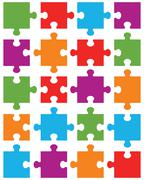 Colorful puzzle Stock Illustration