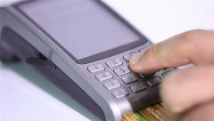 POS credit card Stock Footage