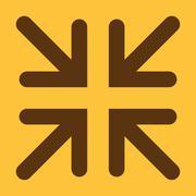 The exit full screen icon. Arrows symbol. Flat - stock illustration