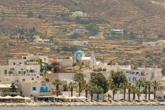 Paroikia at Paros island landscape. A beautiful tourist destination. - stock photo