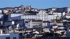 View of Coimbra University on a sunny day Stock Footage
