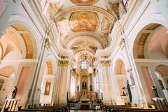Detail of Interior Cathedral of Saint Virgin Mary in Minsk, Bela Stock Photos