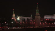 Stock Video Footage of Russia. Moscow - 2013: HD V Moscow Kremlin at night