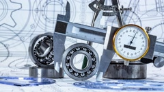 Technical drawing and tools Stock Footage