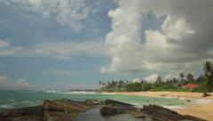 Shore of the island of Ceylon. Sri Lanka. Stock Footage