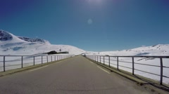 Driving a Car on a Road in Norway - stock footage