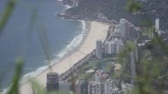 Rio de Janeiro, Brazil beach through grass Stock Footage