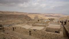 Timelapse of Masada, Israel, Negev Desert (HD) - stock footage