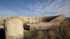 Ancient Roman stadium in Israel (HD) Stock Footage