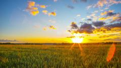 Rural landscape and sunset time-lapse - stock footage