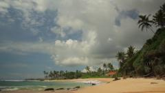 Tropical shore of the island of Ceylon. Sri Lanka - stock footage