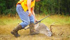 Whitetail Deer Hunter Stock Footage