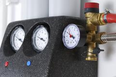 Stock Photo of Manometer of a heating system