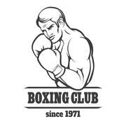 Boxing Club Logo Stock Illustration