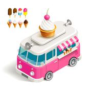 Van with ice cream Stock Illustration