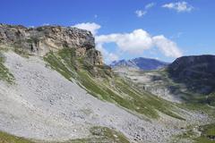 Mountain view in Austria at the Grossglockner Hochalpenstrasse Stock Photos