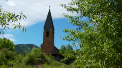 View of Aspen chapel in forest - stock footage