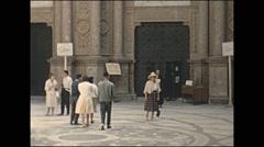 Vintage 16mm film, 1960, Spain, Montserrat, walk about, b-roll Stock Footage
