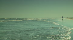 View of waves on seashore Stock Footage