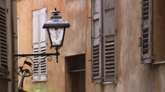 Street lamp in the Provence (Grasse) Stock Footage