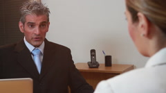 Partners talking on the office - stock footage