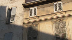 House facade in the Provence (Grasse) Stock Footage