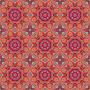 Ornamental seamless pattern. Abstract red geometrical vector bac - stock illustration