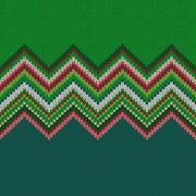 Seamless Christmas geometric knitted pattern Stock Illustration