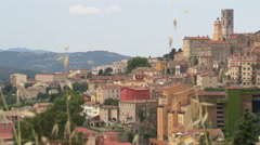 View of French town in the Provence (Grasse) Stock Footage