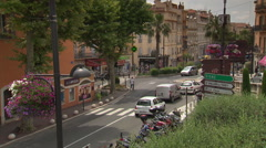 Street scene in the Provence (Grasse) Stock Footage